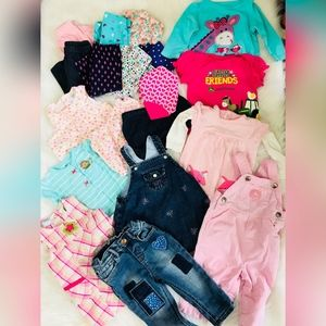 Baby Girl Clothing Bundle 20 pcs - 3-9 months